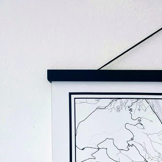 Printed place wall hanger