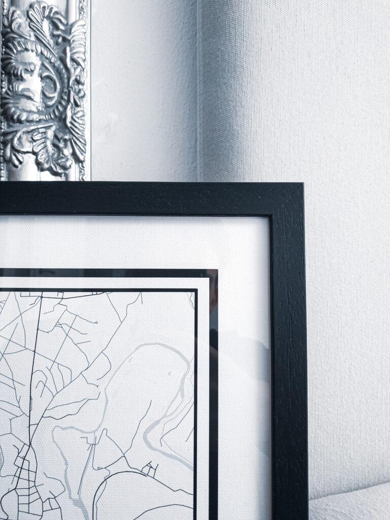 Printedplace wooden frame