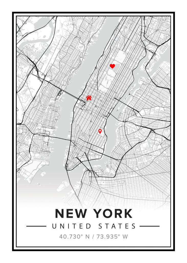 newyork map poster