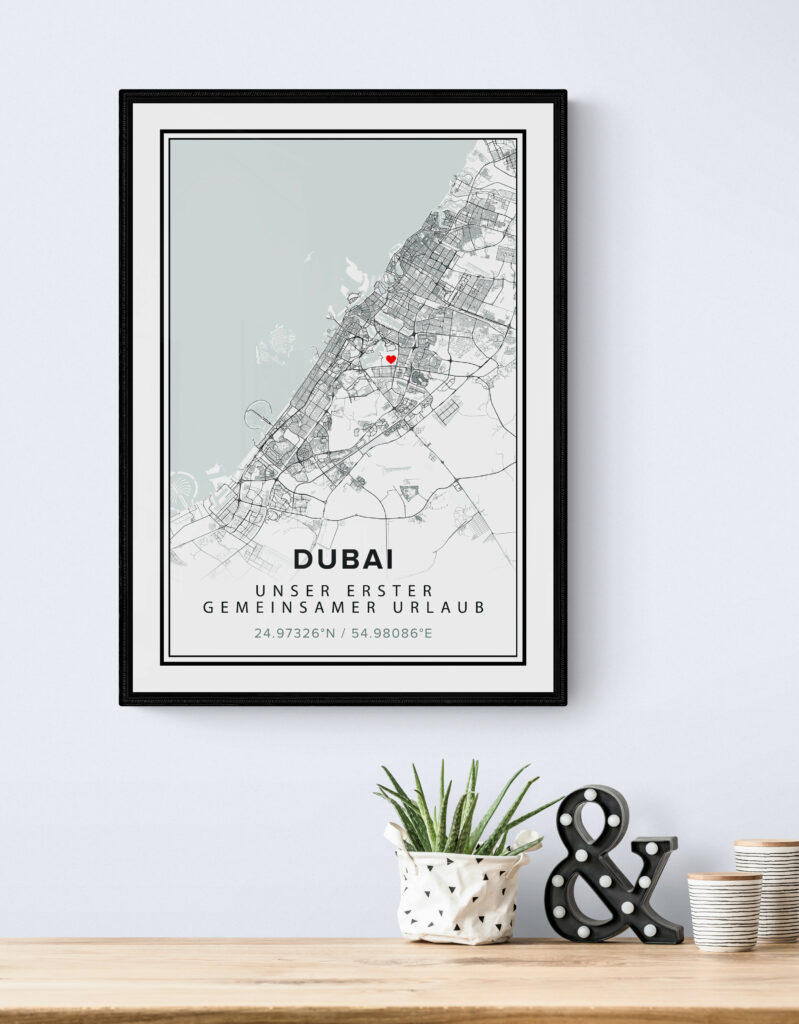 Map place poster