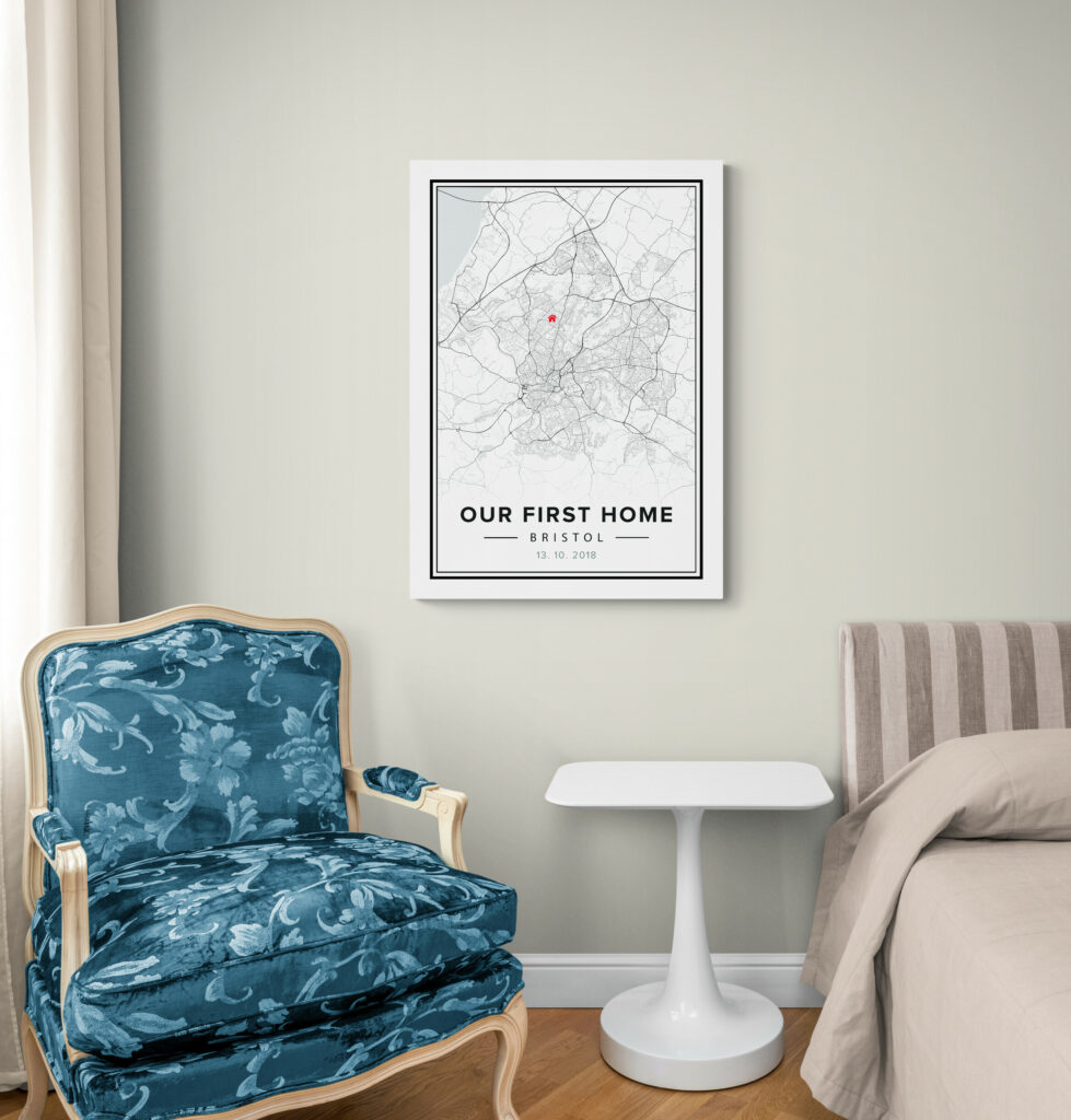 customized map poster