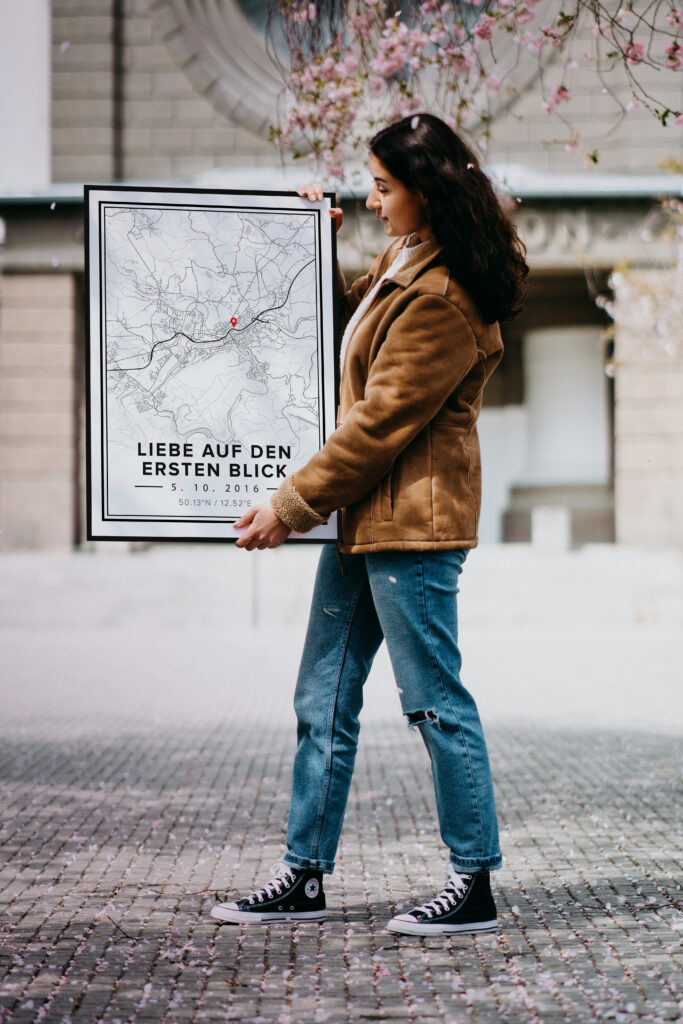 Own map poster