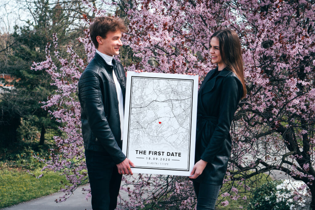 Personalized map poster